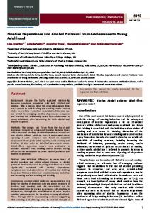 Nicotine Dependence and Alcohol Problems from Adolescence to ...