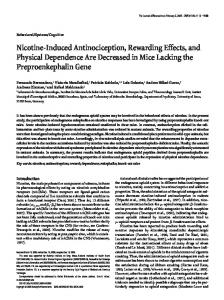 Nicotine-Induced Antinociception, Rewarding ... - Semantic Scholar