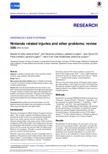 Nintendo related injuries and other problems: review