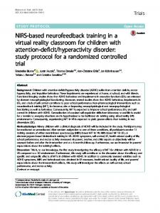 NIRS-based neurofeedback training in a virtual reality ... - Core