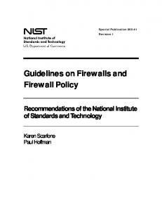 NIST SP 800-41, Revision 1, Guidelines on Firewalls and ... - NIST Page
