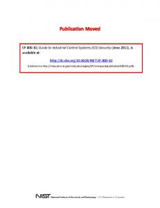 NIST SP 800-82, Guide to Industrial Control Systems (ICS) Security