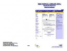 nist virtual library (nvl) - National Institute of Standards and Technology