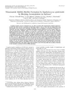 Nitazoxanide Inhibits Biofilm Formation by Staphylococcus ...