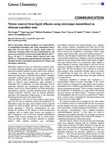 Nitrate removal from liquid effluents using microalgae