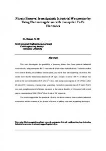 Nitrate Removal from Synthetic Industrial Wastewater ...