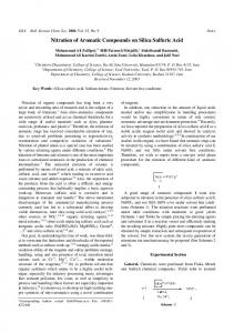 Nitration of Aromatic Compounds on Silica Sulfuric Acid