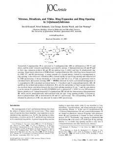 Nitrenes, Diradicals, and Ylides. Ring Expansion and Ring Opening in ...