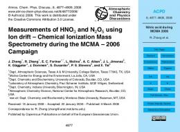 Nitric acid during MCMA 2006