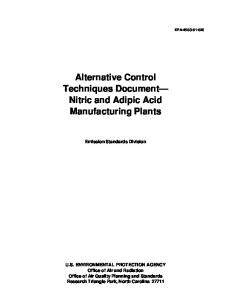 Nitric & Adipic Acid Mfg Plants - US Environmental Protection Agency