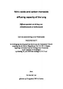 Nitric oxide and carbon monoxide diffusing capacity of