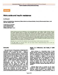 Nitric oxide and insulin resistance - Semantic Scholar