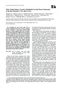 Nitric Oxide Induces Vascular Endothelial Growth Factor ... - J-Stage
