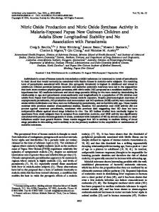 Nitric Oxide Production and Nitric Oxide Synthase Activity in Malaria ...