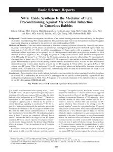 Nitric Oxide Synthase Is the Mediator of Late ... - CiteSeerX