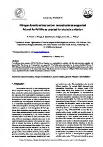 Nitrogen functionalized carbon nanostructures supported Pd and Au ...