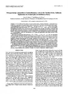 Nitrogen-isotope compositions of metasedimentary ... - Science Direct
