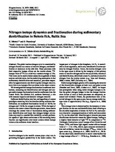 Nitrogen isotope dynamics and fractionation during ... - Biogeosciences