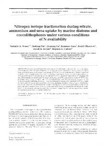 Nitrogen isotope fractionation during nitrate ... - Inter Research