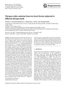 Nitrogen oxides emission from two beech forests ... - Biogeosciences