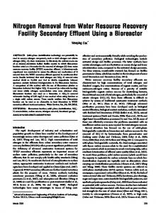 Nitrogen Removal from Water Resource Recovery ... - IngentaConnect