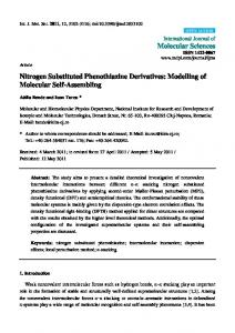 Nitrogen Substituted Phenothiazine Derivatives: Modelling of ... - MDPI