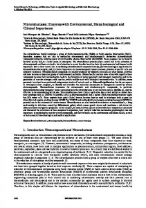 Nitroreductases: Enzymes with Environmental, Biotechnological and ...
