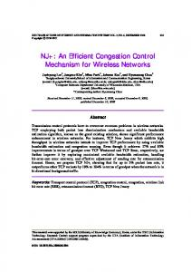 NJ+: An Efficient Congestion Control Mechanism for Wireless Networks