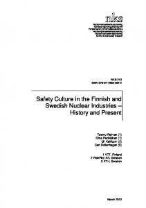 NKS-213, Safety Culture in the Finnish and Swedish ... - CiteSeerX