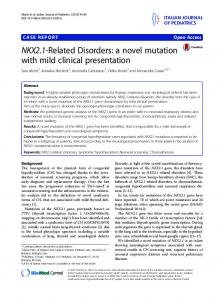 NKX2.1-Related Disorders: a novel mutation with ... - Semantic Scholar