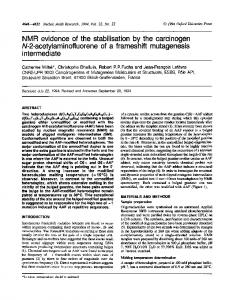 NMR evidence of the stabilisation by the carcinogen ... - BioMedSearch
