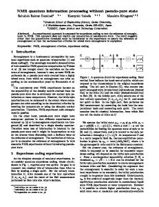 NMR quantum information processing without pseudo-pure state