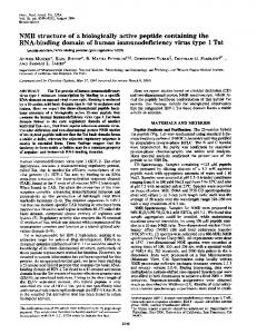 NMR structure of a biologically active peptide containing the RNA ...