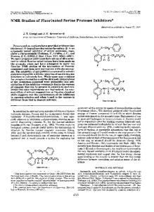 NMR Studies of Fluorinated Serine Protease Inhibitors - The Journal of ...