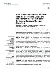 No Association between Elevated Total Homocysteine Levels ... - Core