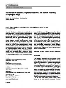 No increase in adverse pregnancy outcomes for ... - Springer Link