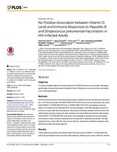 No Positive Association between Vitamin D Level ... - Semantic Scholar