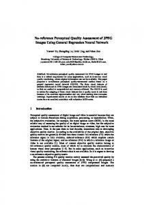 No-reference Perceptual Quality Assessment of JPEG Images Using ...