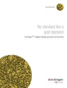 No standard like a gold standard