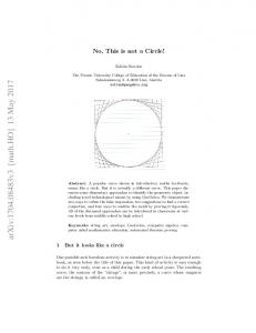 No, This is not a Circle