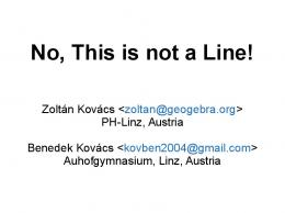 No, This is not a Line!