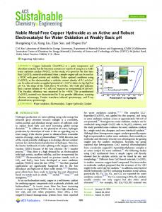 Noble Metal-Free Copper Hydroxide as an Active ... - ACS Publications