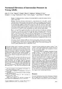 Nocturnal Elevation of Intraocular Pressure in Young ...