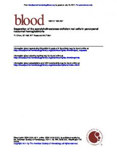 nocturnal hemoglobinuria Separation of the ...