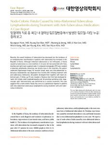 Nodo-Colonic Fistula Caused by Intra ... - KoreaMed Synapse