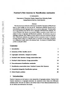 Covariant Hamiltonian representation of Noether's theorem and its