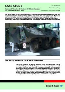 Noise and Vibration Evaluation of Military Vehicles Th...