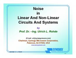 Noise in Linear And Non-Linear Circuits And Systems