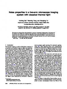 Noise properties in a two-arm microscope imaging ... - Semantic Scholar