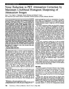 Noise Reduction in PET Attenuation Correction by Maximum